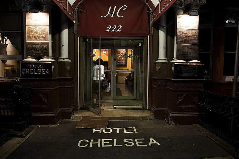 """""""Stayin' up for days at the Chelsea hotel"""""""